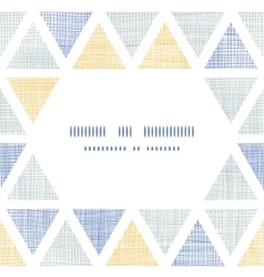Abstract textile ikat triangles frame seamless vector