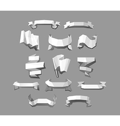 Banners and ribbons set vector