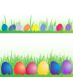 Easter eggs banner set vector