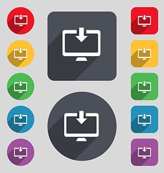 Download load backup icon sign a set of 12 colored vector