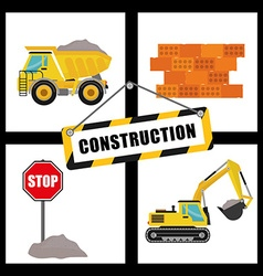 Construction machinary design vector