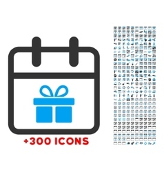 Gift day icon vector