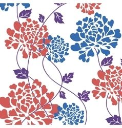flower card drawn by hand vector image