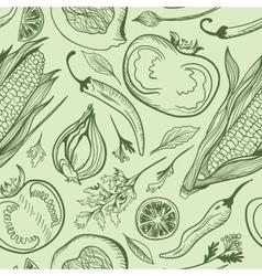 Green Vegetarian Pattern vector image