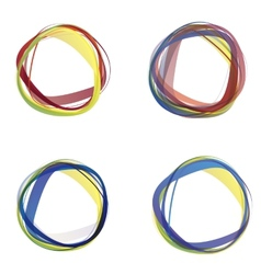Abstract colorful circles vector image