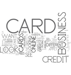 apply bad card credit credit online text word vector image vector image