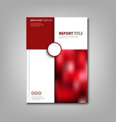 Brochures book or flyer with red and white pattern vector