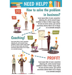 Business trainings and coaching flowchart vector