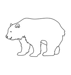 Canadian brown bear canada single icon in outline vector