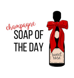 champagne - soap of the day friday vector image