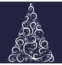 Christmas card Xmas tree vector image