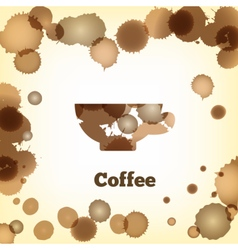 coffeecup vector image