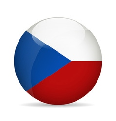 Flag of Czech Republic vector image vector image
