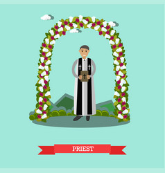 Flat of priest under wedding vector