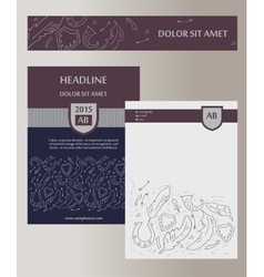 Flyer cover template with heraldic elements status vector