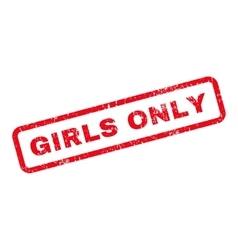 Girls Only Text Rubber Stamp vector image