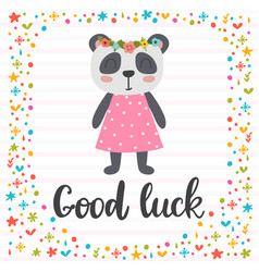 Good luck inspirational quote hand drawn vector