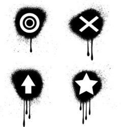grunge symbols vector image vector image