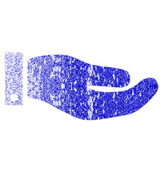Hand grunge textured icon vector
