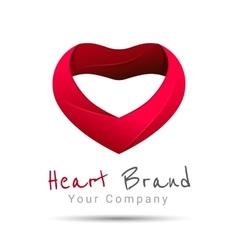 Heart logo design template happy vector