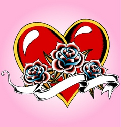 heart tattoo vector image vector image