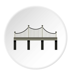 Iron bridge icon flat style vector