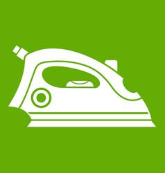 iron icon green vector image