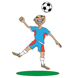 man plays football vector image vector image