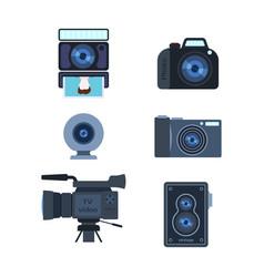 photograph digital equipment camera vector image vector image