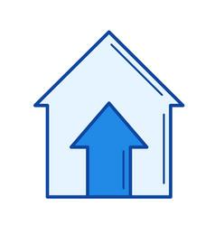 real estate price line icon vector image