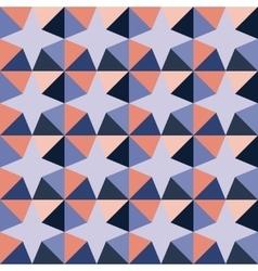 Seamless geometric triangle stars purple vector