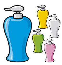 soap dispenser plastic pump vector image vector image