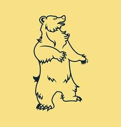Standing bear line art vector