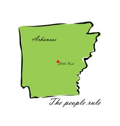 State of arkansas vector