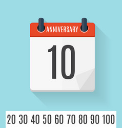 template set of anniversary celebration invitation vector image vector image