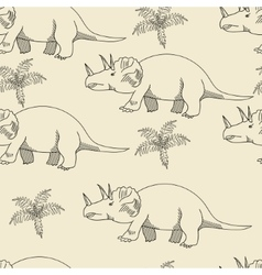 Triceratops seamless retro vector image
