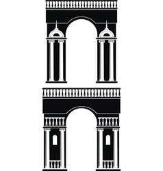 triumph arch vector image vector image