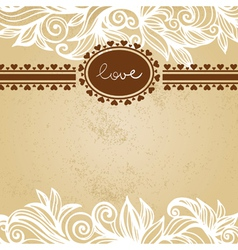 Valentine background with frame vector image vector image