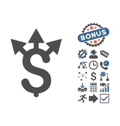 Expences flat icon with bonus vector