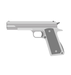 Handgun icon vector