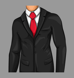 Comic attractive business man vector