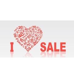 I love sale vector