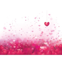 pink heart background vector image
