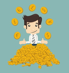 Businessman wealth vector