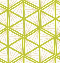 Painted green marker triangles forming hexagons vector