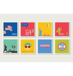Set of cards and invitations for 4th of july vector