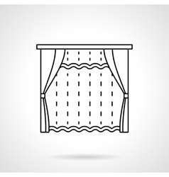 Room window decor flat line icon vector