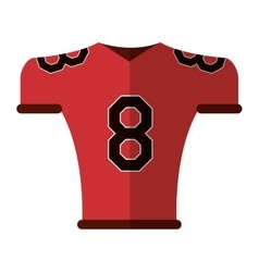 American football jersey uniform tshirt vector