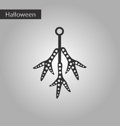 Black and white style icon halloween chicken feet vector