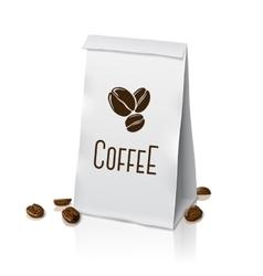 Blank realistic paper packaging coffee bag vector image